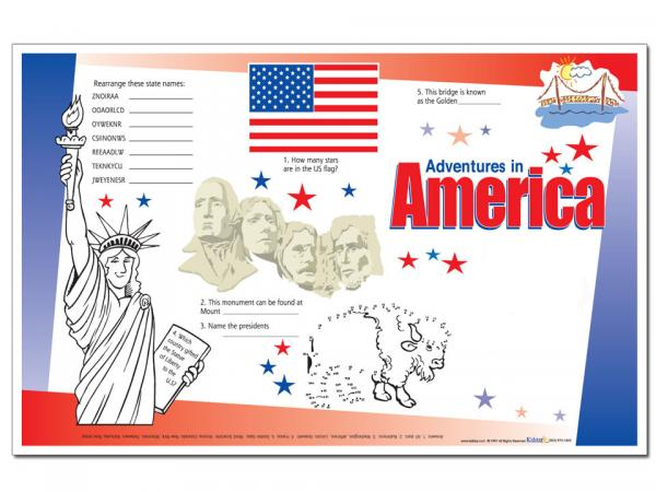 Adventures in America Placemat