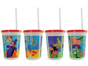 Adventure Design Thermoformed Cup- 500 Cup/Lid/Straw (500 units)