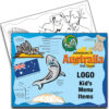 Australia Theme Kids Menu Placemat