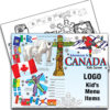 Canada Theme Kids Menu Placemat