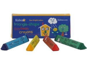 Triangle Shaped Crayons Four (4) Pack
